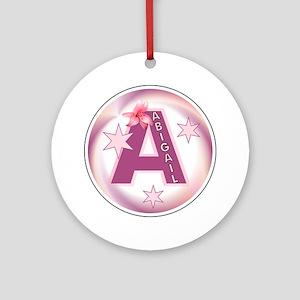 Abigail Star Initial Ornament (Round)