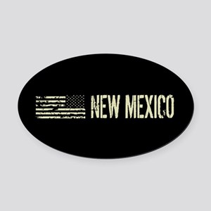 Black Flag: New Mexico Oval Car Magnet