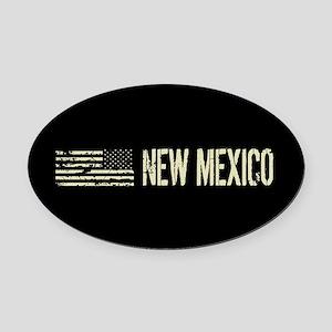 Black Flag: New Mexico Oval Car Magnet