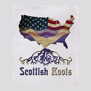 American Scottish Roots Throw Blanket