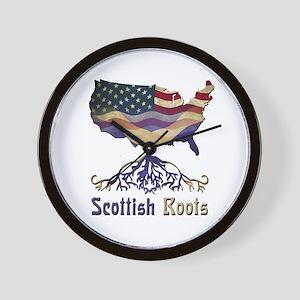American Scottish Roots Wall Clock