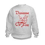 Vivienne On Fire Kids Sweatshirt