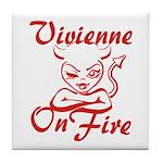 Vivienne On Fire Tile Coaster