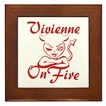 Vivienne On Fire Framed Tile