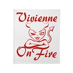 Vivienne On Fire Throw Blanket