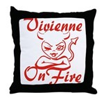 Vivienne On Fire Throw Pillow