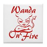 Wanda On Fire Tile Coaster