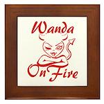 Wanda On Fire Framed Tile