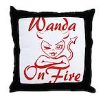 Wanda On Fire Throw Pillow