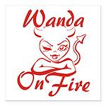 Wanda On Fire Square Car Magnet 3