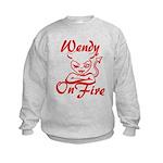 Wendy On Fire Kids Sweatshirt