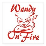 Wendy On Fire Square Car Magnet 3