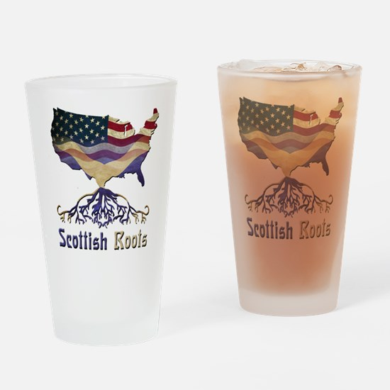 American Scottish Roots Drinking Glass