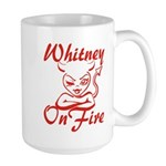 Whitney On Fire Large Mug