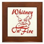 Whitney On Fire Framed Tile