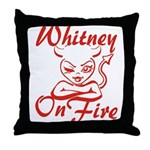 Whitney On Fire Throw Pillow