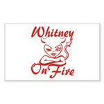 Whitney On Fire Sticker (Rectangle)