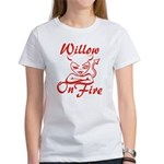 Willow On Fire Women's T-Shirt