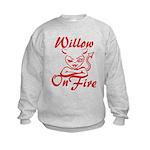 Willow On Fire Kids Sweatshirt