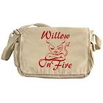 Willow On Fire Messenger Bag