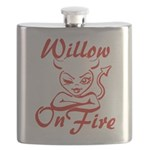 Willow On Fire Flask