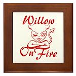 Willow On Fire Framed Tile