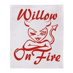 Willow On Fire Throw Blanket