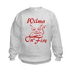 Wilma On Fire Kids Sweatshirt