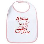 Wilma On Fire Bib