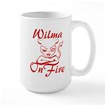Wilma On Fire Large Mug