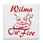 Wilma On Fire Tile Coaster