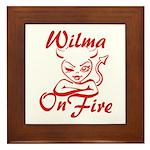 Wilma On Fire Framed Tile
