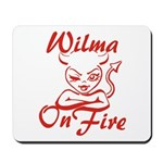Wilma On Fire Mousepad