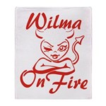 Wilma On Fire Throw Blanket