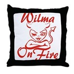 Wilma On Fire Throw Pillow