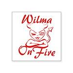 Wilma On Fire Square Sticker 3