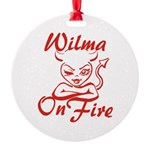 Wilma On Fire Round Ornament