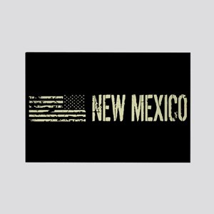 Black Flag: New Mexico Rectangle Magnet