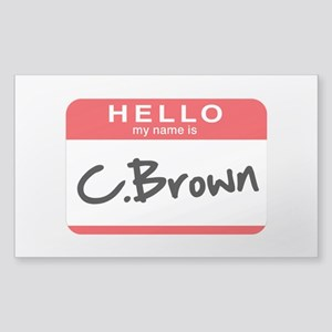 C.Brown Sticker (Rectangle)
