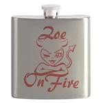 Zoe On Fire Flask