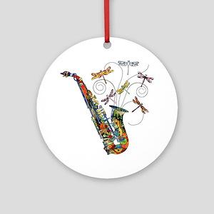 Wild Saxophone Ornament (Round)