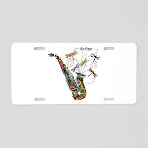Wild Saxophone Aluminum License Plate