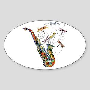 Wild Saxophone Sticker (Oval)