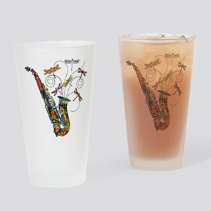 Wild Saxophone Drinking Glass