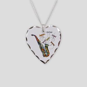 Wild Saxophone Necklace Heart Charm