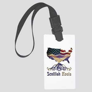 American Scottish Roots Large Luggage Tag
