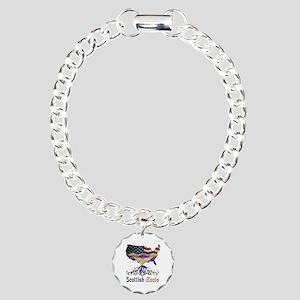 American Scottish Roots Charm Bracelet, One Charm