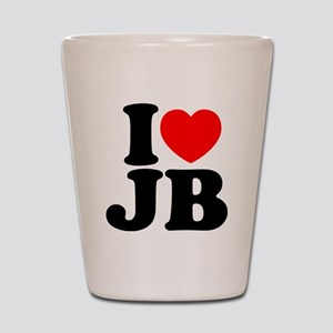 I LOVE JB Shot Glass