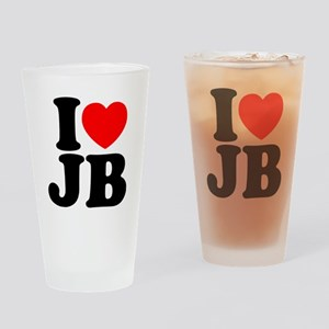 I LOVE JB Drinking Glass