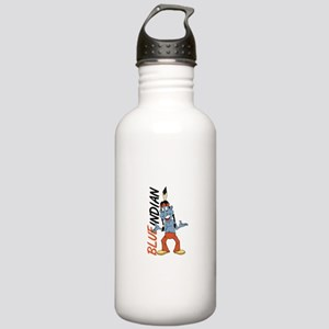 Blue Indian Stainless Water Bottle 1.0L